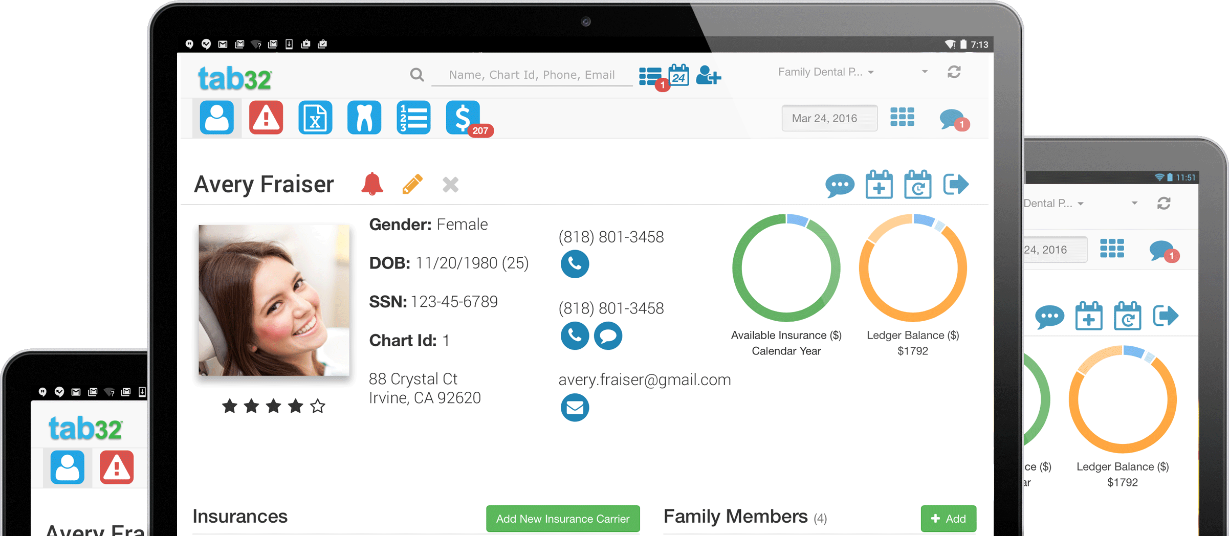 Patient Dashboard - Cloud Dental Software