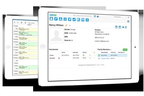 tab32 cloud based dental EHR software