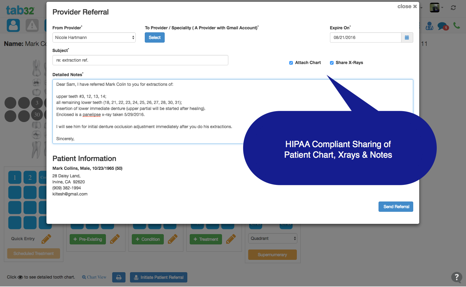 Release of HIPAA Compliant Patient Referral Dental Software