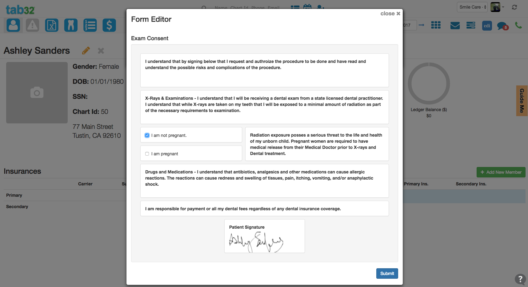 Release of Customizable e-Consent Forms within EHR